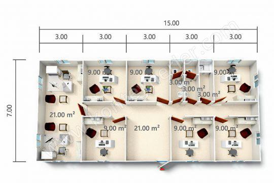 ب ك أو 105 متر مربع